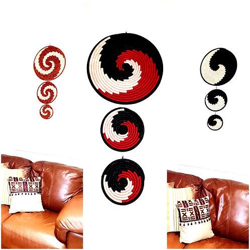 Spiral Mat Wall Decor (set of 3 each)