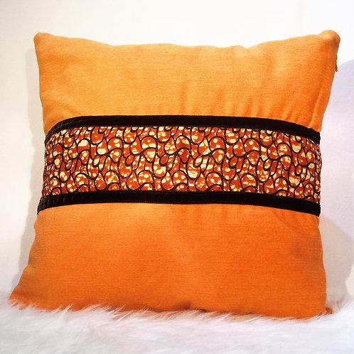Orange Mesh Cushion