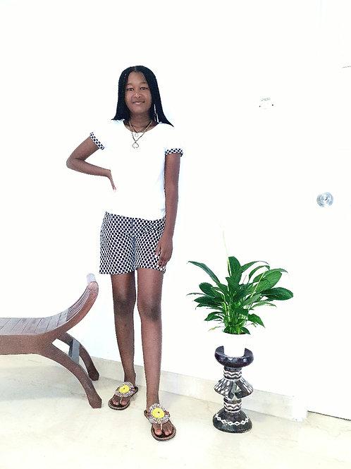 Checkered Shorts and T-shirt set