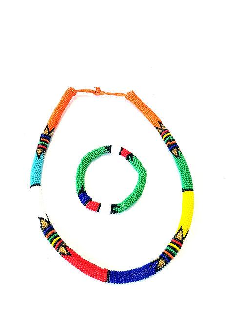 Zulu Necklace set (Green)