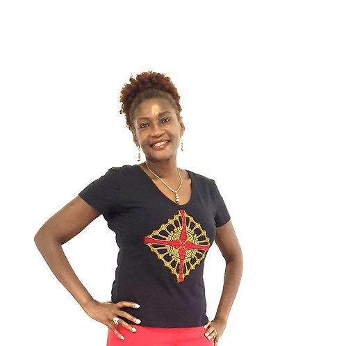 Red Ankara Diamond T-shirt