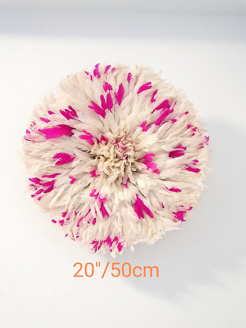 Decorative Wall Hanging (White/Pink)