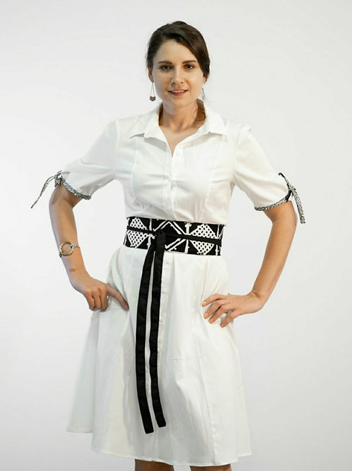Bogolan Obi Belt Dress