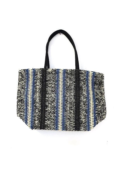 Blue Straw Bag