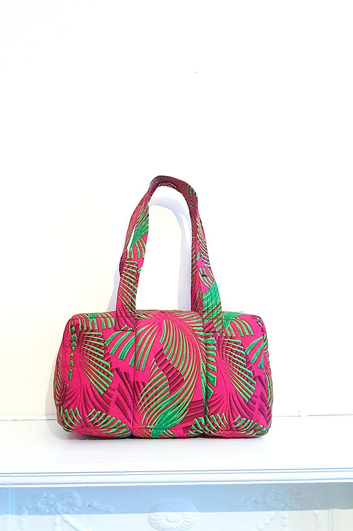Floral Ankara Padded Bag