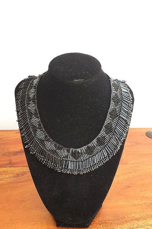 Princess Beaded Necklace (Platinum)