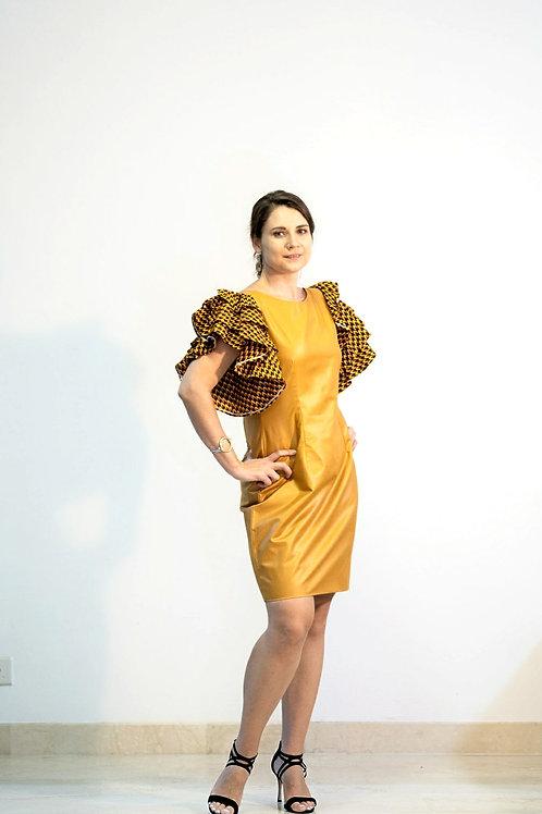 Gold Triple Sleeve Dress