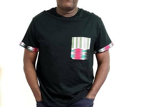 Kente Print T-shirt (Green)