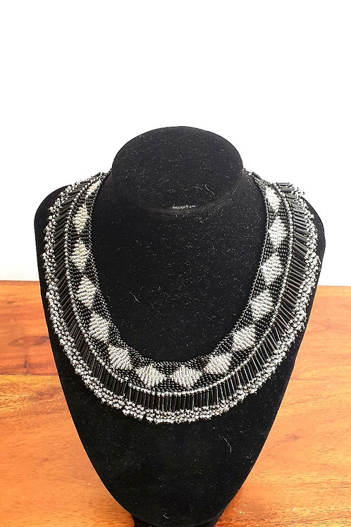 Princess Beaded Necklace (Silver)