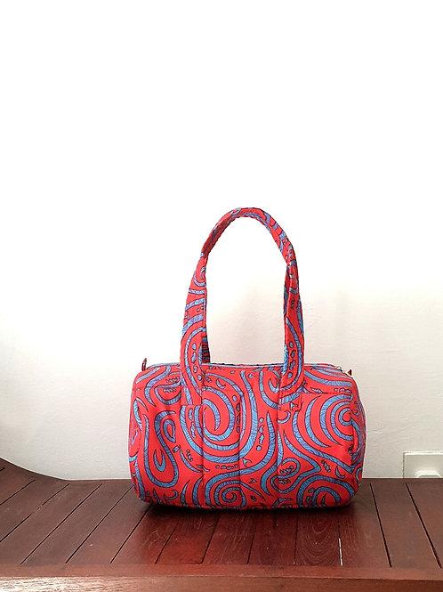 Red & Blue Barrel Bag