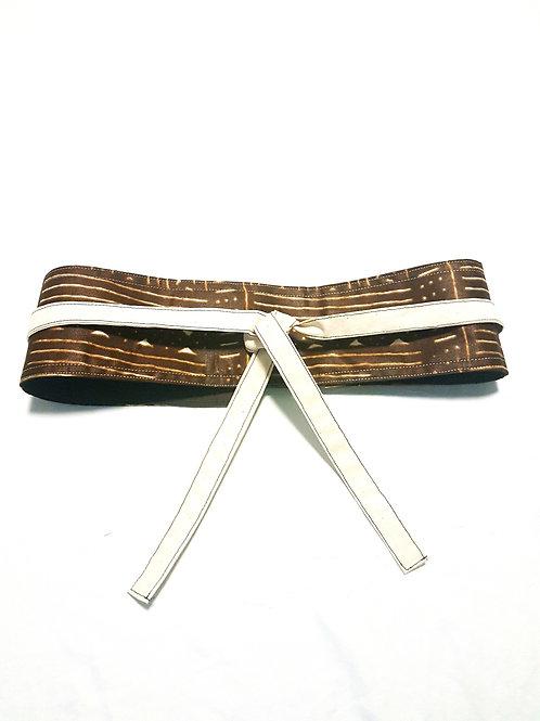 Brown Stripe Obi Belt