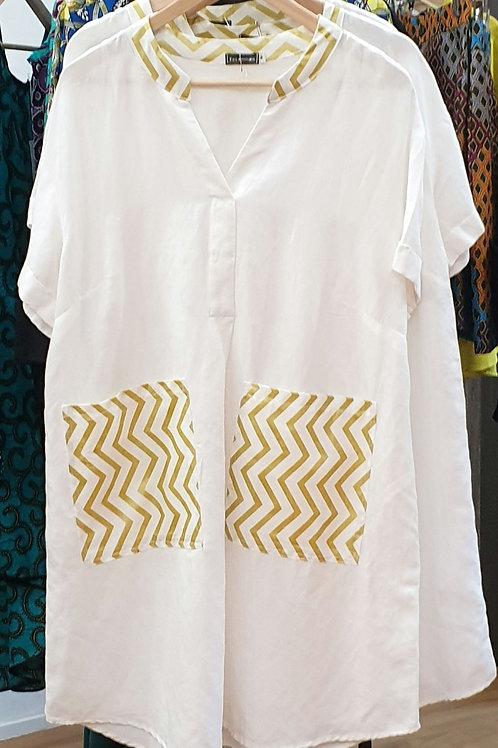 Double Pocket Shirt Dress