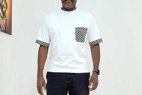 Ankara Black & White T- Shirt