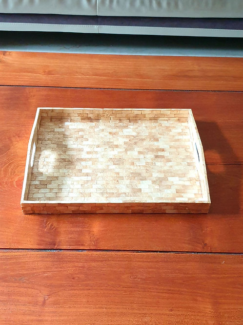 Mother of Pearl Tray - Gold