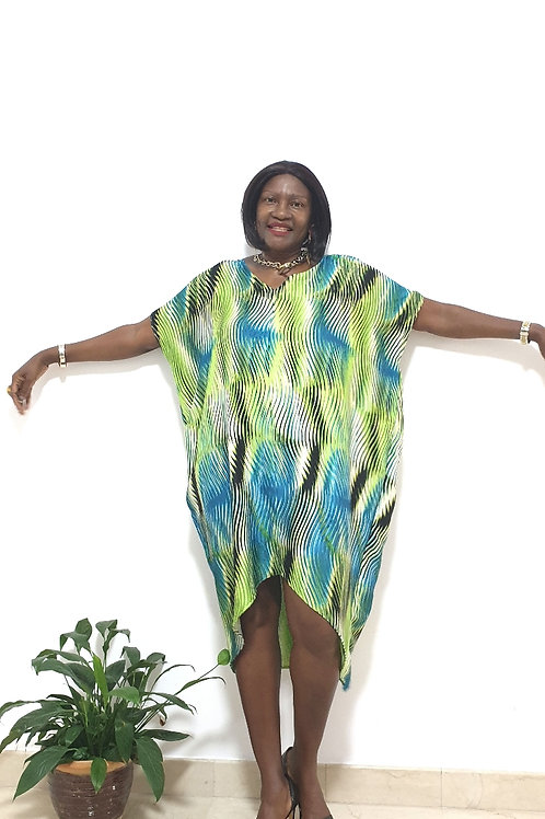 Evergreen Kaftan Dress