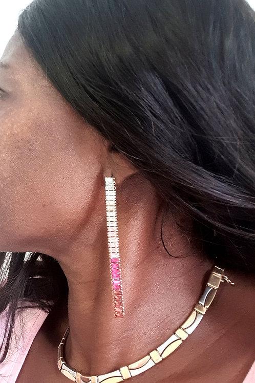 Pink Diamonte Drops