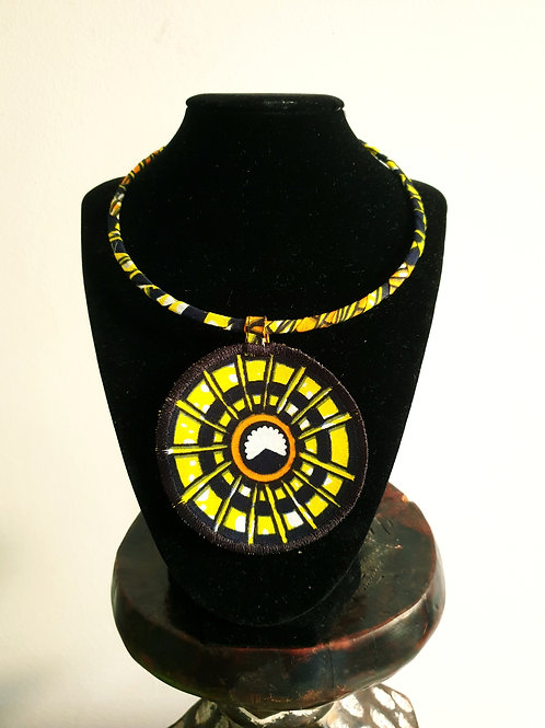 Yellow Spikes Necklace
