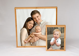 Framed desk prints family portraits