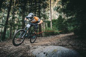Mounatin biker in Squamish, BC