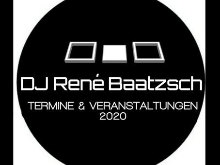 DJ Termine & öffentliche Veranstaltungen 2020