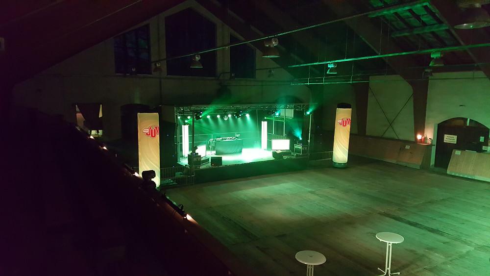 Bühne, Reithalle, Gut Grassdorf, Taucha, MDR Jump
