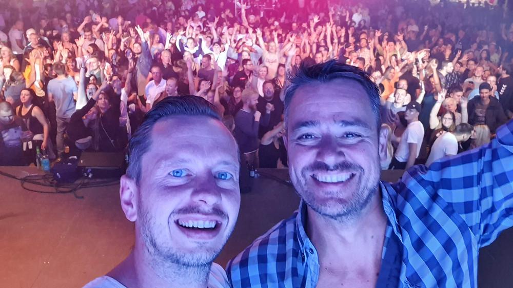 DJ René Baatzsch und Roman Knoblauch - Tauchscher - Tauchaer Stadtfest