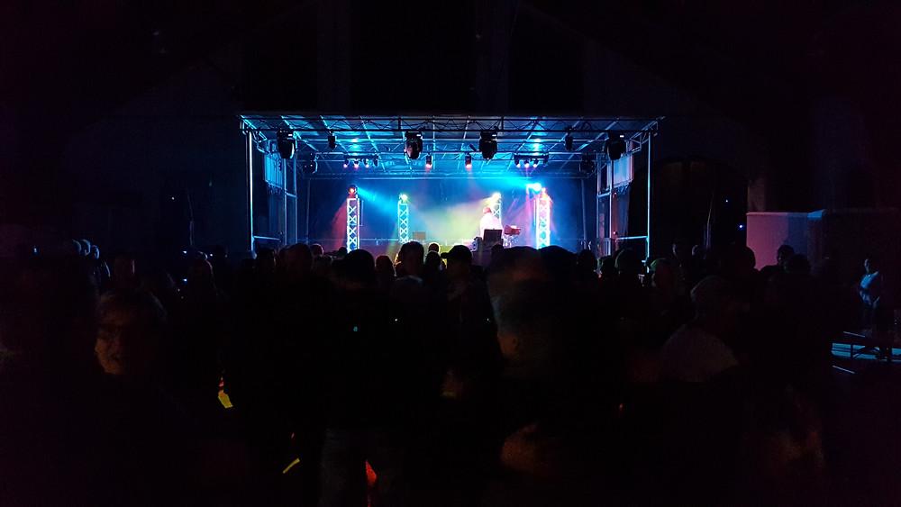 Ostersonntag 2017 in Taucha Bühne mit Olaf Schliebe und Dj René