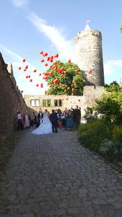 Brautpaar auf Burg Schönburg Naumburg