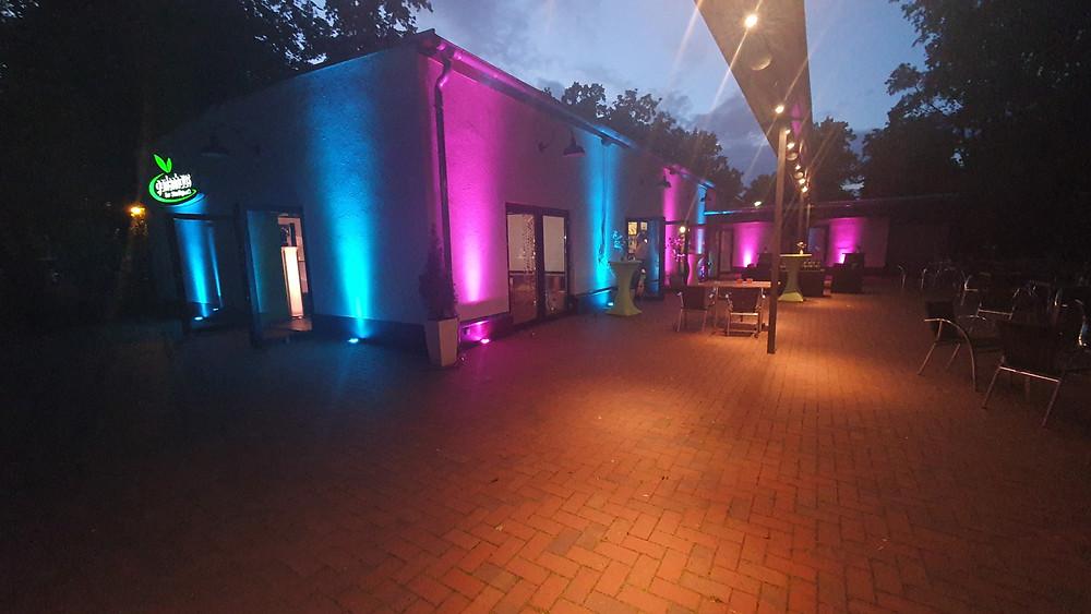 Gertenhaus Magdeburg beleuchtet