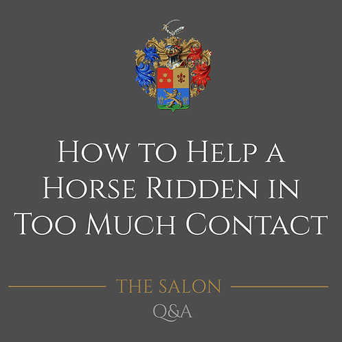 How To Help A Horse Ridden In Too Much Contact
