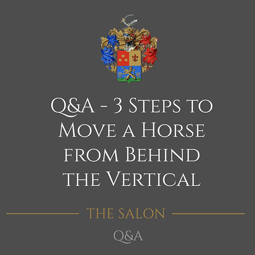 Q&A - 3 Steps To Move A Horse From Behind