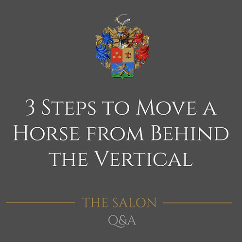 3 Steps To Move A Horse From Behind