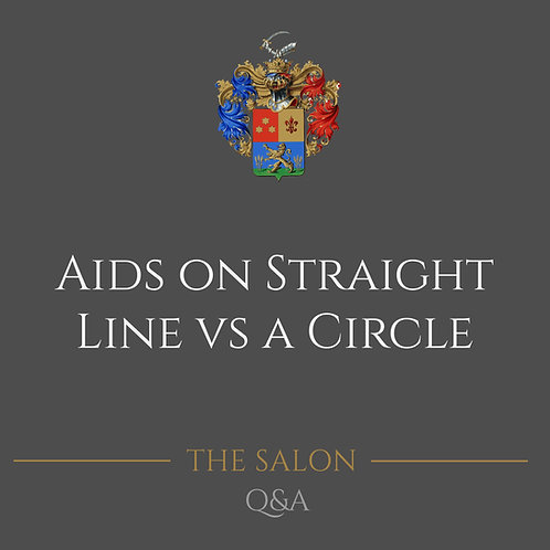Aids On Straight Line Vs. A Circle