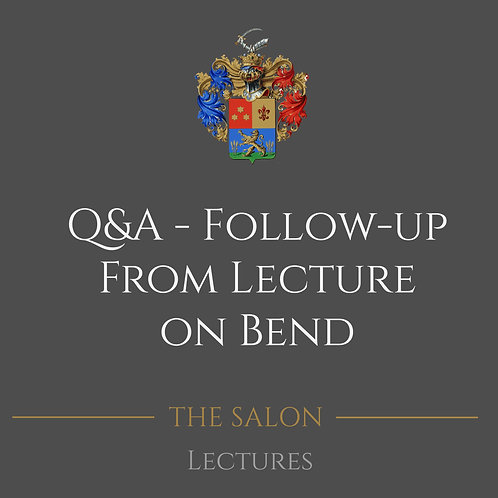 Q&A Follow-Up From Lecture On Bend