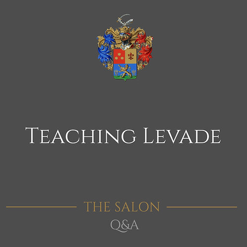 Teaching Levade