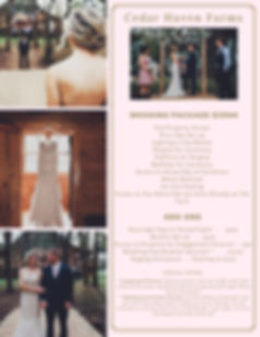 Cedar Haven Farms Wedding Packages Tennessee Bride