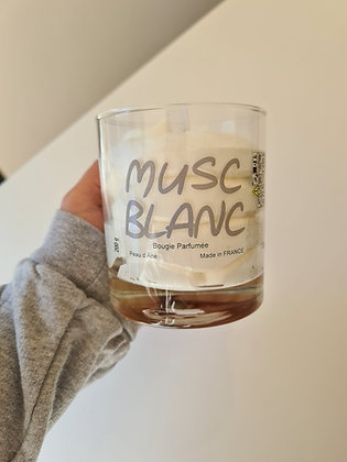 Bougie XXL Musc Blanc - Sans bijou