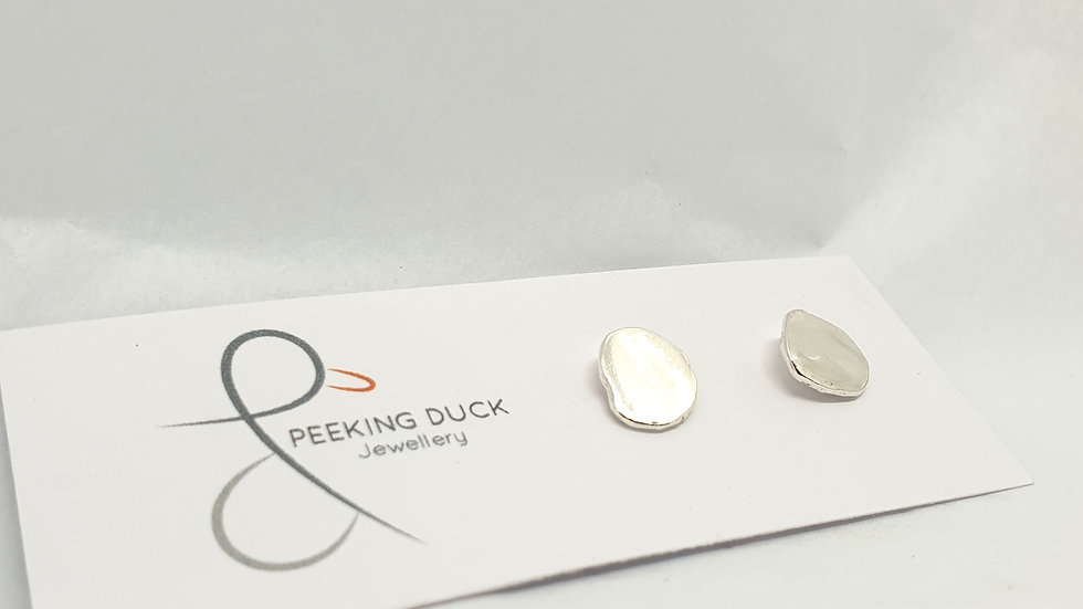 Rolled Nugget Earring studs