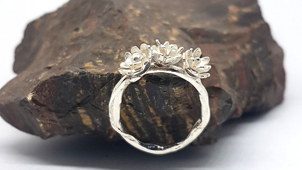 Branching out with flowers ring