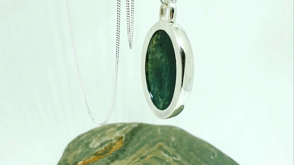 Moss Agate open pendant