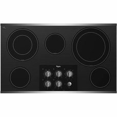 Gold 36-inch Electric Ceramic Glass Cooktop with Two Dual Radiant Elements