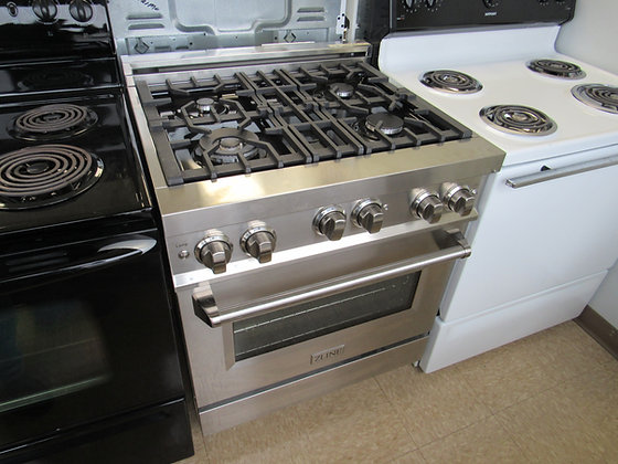 """Pre-Owned Z-LINE 30""""W Gas Burner / Electric Oven Range"""