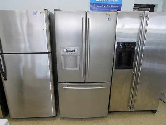 Pre-Owned LG 22.4 Cu. Ft. French Door Refrigerator - Stainless Steel