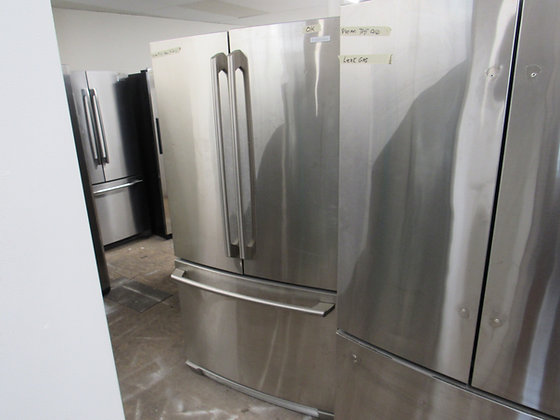 Pre-Owned Electrolux 22.6 Cu. Ft. French Door Refrigerator - Stainless Steel
