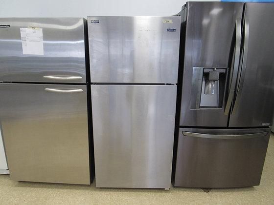 Pre-Owned Maytag Top-Freezer Refrigerator - Stainless Steel