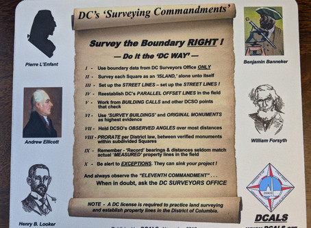 "D.C.'s ""Surveying Commandments"""