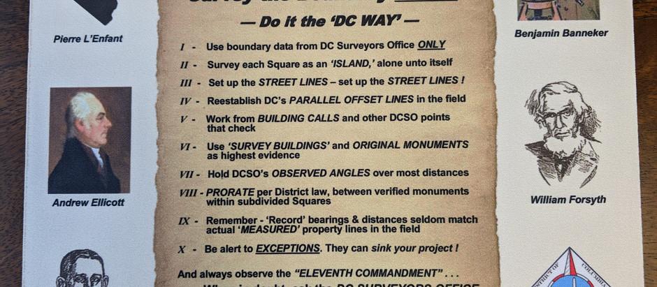 """D.C.'s """"Surveying Commandments"""""""