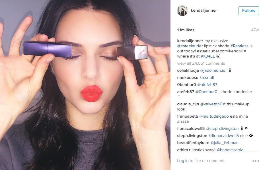 Instafamosos - millones de seguidores, pero no siempre millones de $ Kendall Jenner