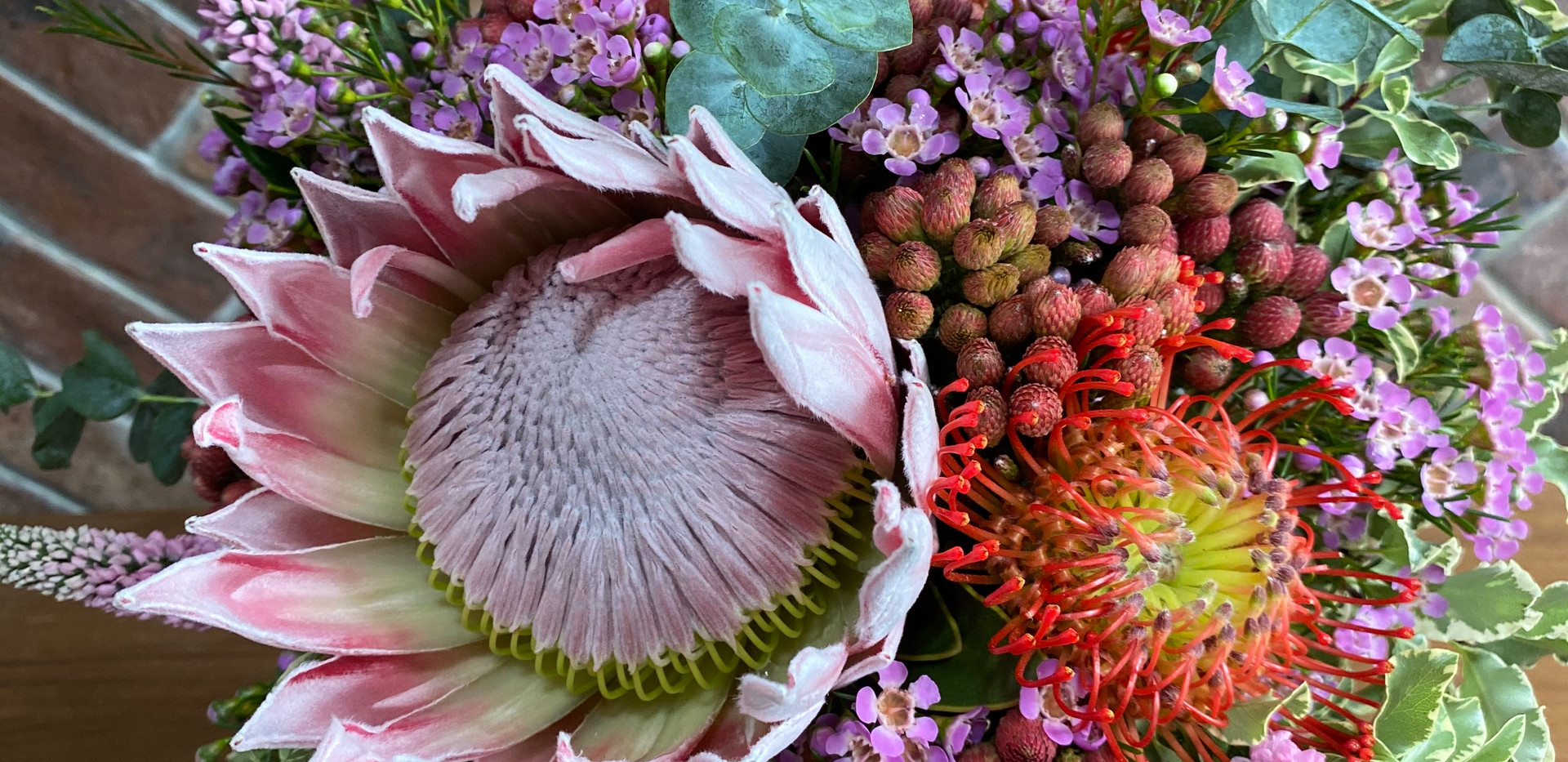 Courageous protea wildflower bouquet