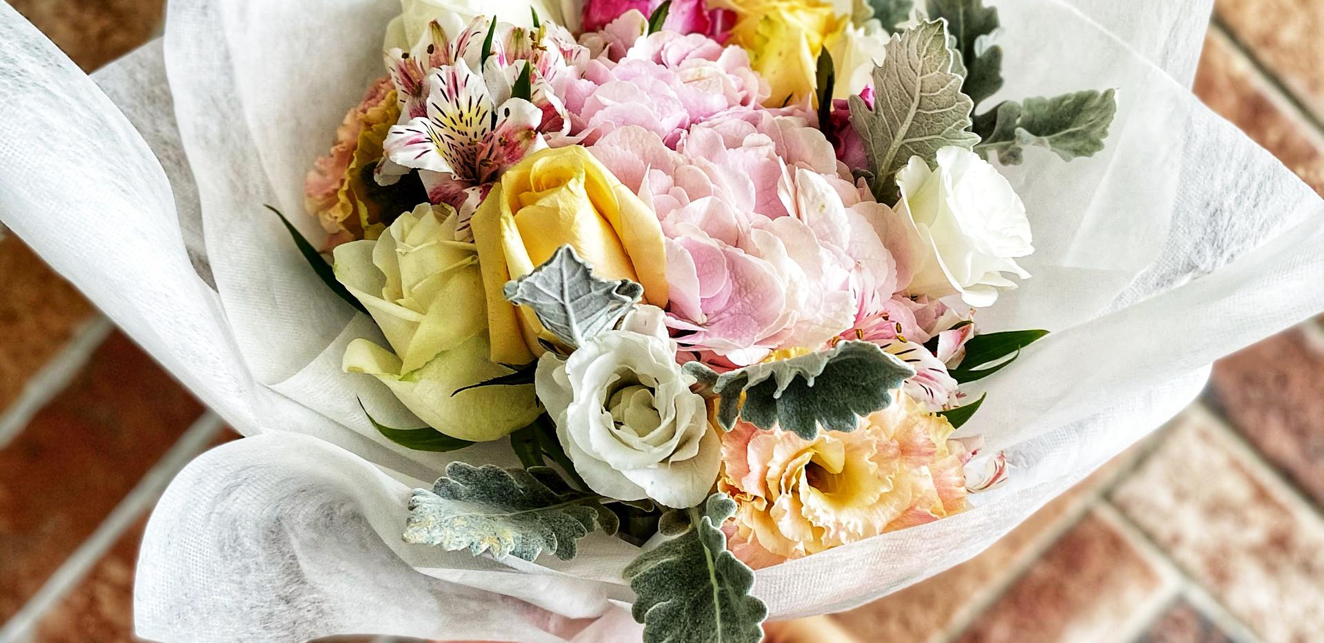 Sweet Pink Hydrangea bouquet